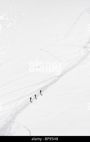 Mountaineers in the Alps - Stock Photo