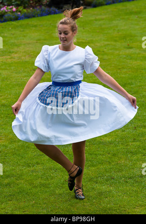 Scottish dancing at Stirling castle. Scotland. - Stock Photo
