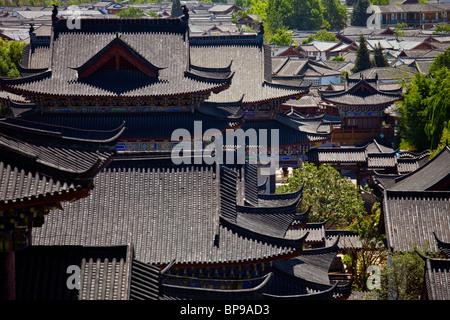 Mu Family Mansion, old town, Lijiang, Yunnan Province, China - Stock Photo
