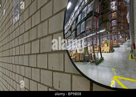 Convex traffic mirror stock photo royalty free image for Mirror warehouse near me