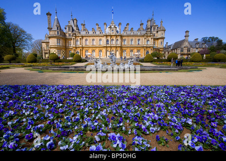 Waddesden Manor Buckinghamshire chateau stately home Rothschild - Stock Photo