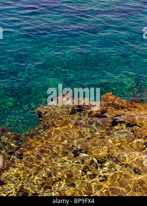 Rocks under water at Protaras, Cyprus, Europe. - Stock Photo