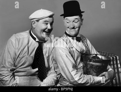 OLIVER HARDY & STAN LAUREL LAUREL & HARDY:THEM THAR HILLS (1934) - Stock Photo