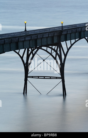 An abstract close up of one of the arches of the Victorian Pier at Clevedon, North Somerset. - Stock Photo