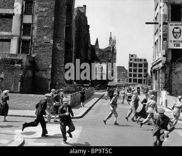 STREET SCENE 1984; NINETEEN EIGHTY-FOUR (1956) - Stock Photo