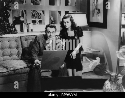 EDWARD G. ROBINSON JOAN BENNETT THE WOMAN IN THE WINDOW (1944) - Stock Photo