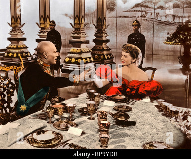 YUL BRYNNER, DEBORAH KERR, THE KING AND I, 1956 - Stock Photo