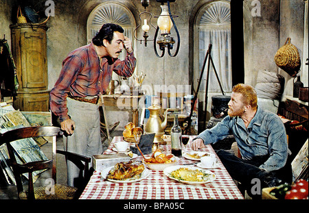 ANTHONY QUINN & KIRK DOUGLAS LUST FOR LIFE - VINCENT VAN GOUGH (1956) - Stock Photo