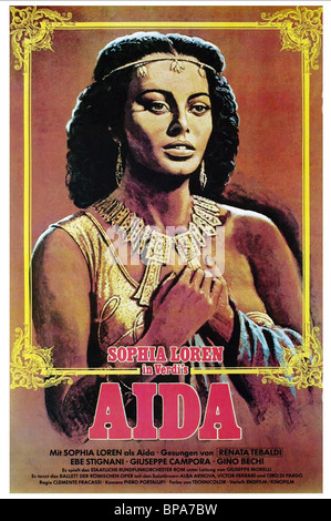 SOPHIA LOREN POSTER AIDA (1953) - Stock Photo