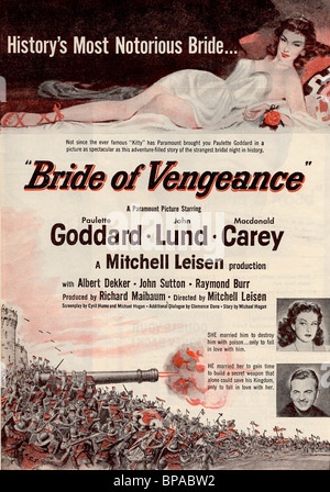 Bride Of Vengeance 1949 Paramount Film With Paulette Goddard