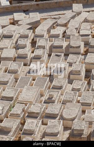Old Jewish cemetery, Mount of Olives, Jerusalem - Stock Photo