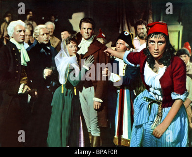 CECIL PARKER, DOROTHY TUTIN, PAUL GUES, ROSALIE CRUTCHLEY, A TALE OF TWO CITIES, 1958 - Stock Photo