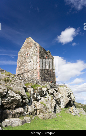 Smailholm Tower near Kelso, Scottish Borders UK, historic peel tower open to public - Stock Photo
