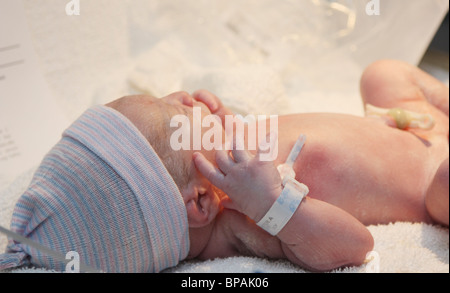 Brand New Baby Boy, Only Minutes Old - Stock Photo
