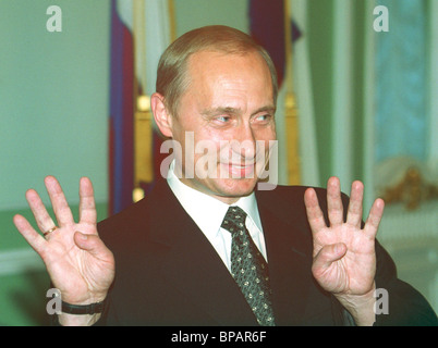 Vladimir Putin took part in celebration of 100th anniversary of Trans-Siberian Railway 150th anniversary of - Stock Photo