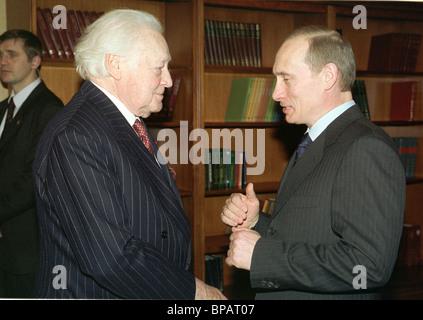 President Putin received Maurice Druon - Stock Photo