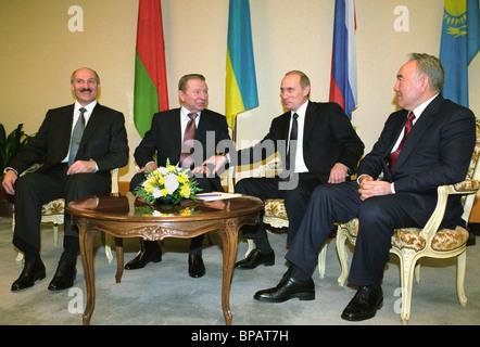 Putin, Lukashenko, Kuchma, Nazarbayev discuss integration - Stock Photo