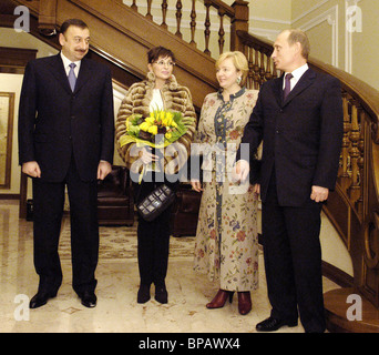 Meeting of Presidents of Azerbaijan and Russia - Stock Photo