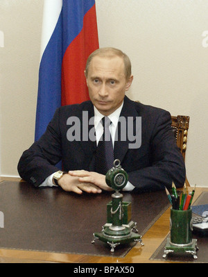 Vladimir Putin called upon Russian citizens to vote on March 14 - Stock Photo