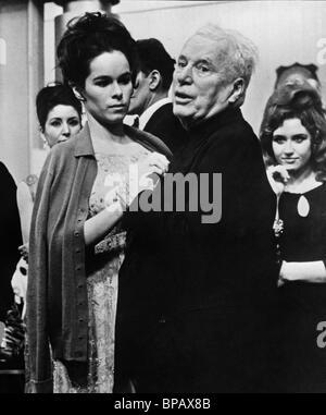 Charlie Chaplin, silent film comedian, 1966 - Stock Photo