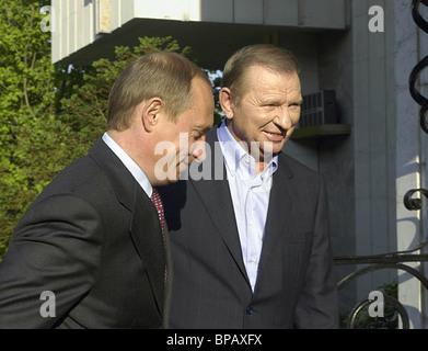 Putin, Kuchma hold bilateral meeting - Stock Photo