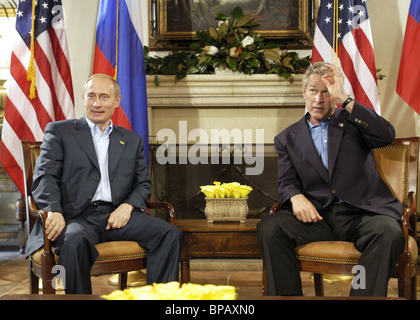 Meeting of Russian and US Presidents - Stock Photo