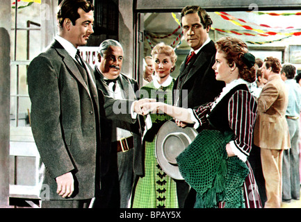 JOHN PAYNE & MONA FREEMAN THE ROAD TO DENVER (1955) - Stock Photo