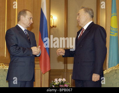 Presidents of Russia and Kazakhstan meet in Alma-Ata - Stock Photo