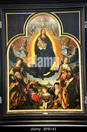 The Virgin Mary in Glory by Jan Provost, State Hermitage Museum, Saint Petersburg, Northwestern Region, Russia - Stock Photo