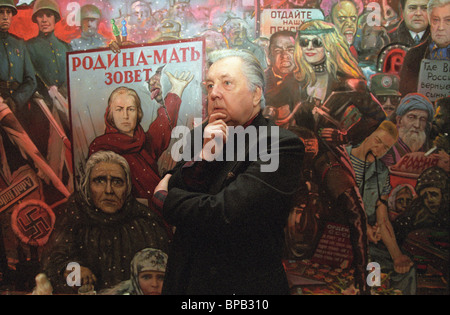 Peoples' Artist of Soviet Union Ilya Glazunov, 1999 - Stock Photo