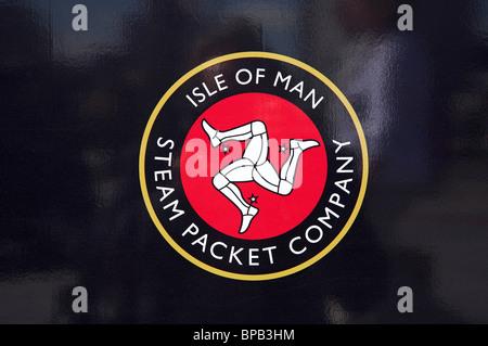 Isle of Man Steam Packet Company logo - Stock Photo