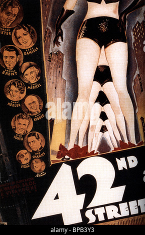 MOVIE POSTER 42ND STREET (1933) - Stock Photo