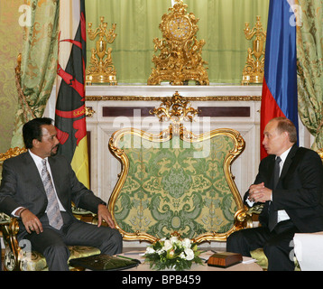 Russian President Vladimir Putin meets with Sultan of Brunei - Stock Photo