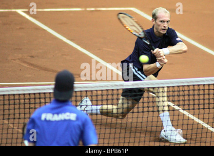 Russia reaches Davis Cup semifinals - Stock Photo