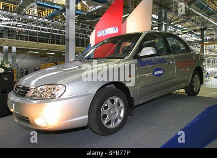 Izhevsk automobile plant starts assembling South Korea's Kia Spectra cars - Stock Photo