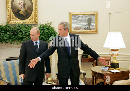 Russian, US presidents hold meeting in Washington - Stock Photo