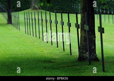 German war graves at Fricourt on the Somme - Stock Photo