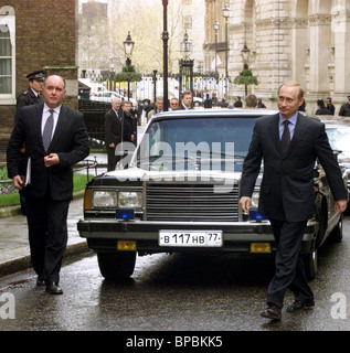 Russian President-elect Vladimir Putin heads to meet Blair - Stock Photo