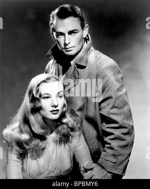 VERONICA LAKE, ALAN LADD, THIS GUN FOR HIRE, 1942 - Stock Photo