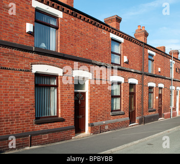 pre first world war terraced houses in st.helens, lancashire,england,uk - Stock Photo