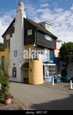 Portmeirion Italianate Village Gwynedd Wales UK - Stock Photo