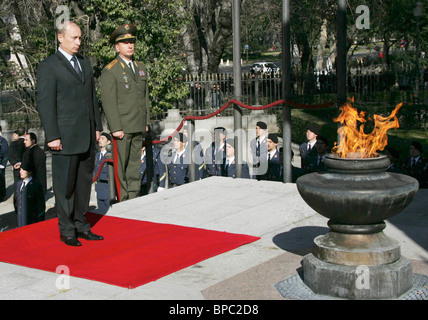 Russian President Vladimir Putin visits Spain - Stock Photo