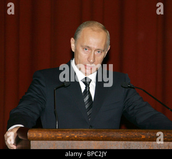 Putin takes part in Russian Interior Ministry Board's expanded session - Stock Photo
