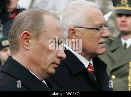 President Putin winds up Czech Republic visit - Stock Photo