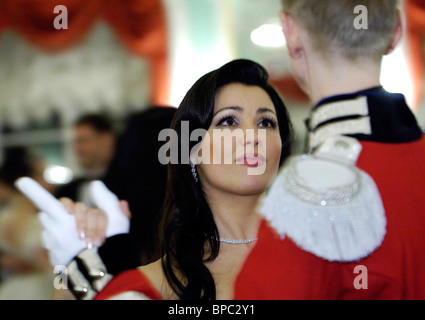 Farewell to Winter charity ball held in Great Palace in Peterhof - Stock Photo