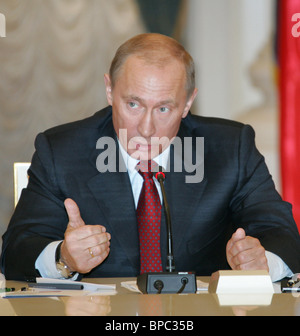 Russian President Vladimir Putin holds number of meetings March 16, 2006 - Stock Photo