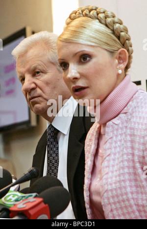 Yuliya Timoshenko and Alexander Moroz hold joint press conference in Kiev - Stock Photo