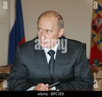 Russian President Vladimir Putin holds Security Council session April 8, 2006 - Stock Photo
