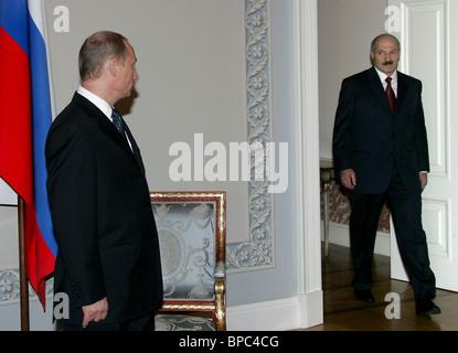 Russian President Vladimir Putin visits St. Petersburg - Stock Photo