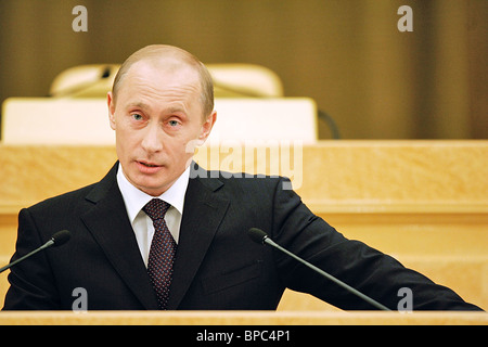 Russian President Vladimir Putin delivers annual address to Federal Assembly - Stock Photo